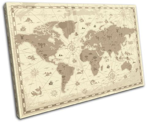 world Retro brown Maps Flags - 13-0096(00B)-SG32-LO